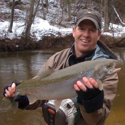 Orvis Streamside guides float the Betsie River for steelhead in late March and April.