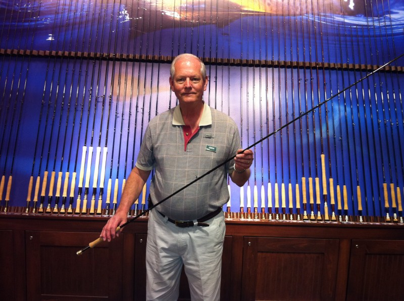 John Royal Oak with fly rod