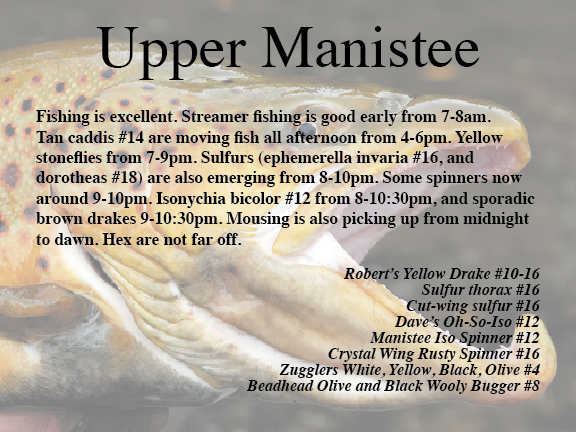 Upper Manistee RiverReport 2016 LATEJUNE